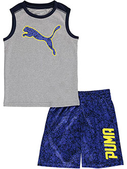 "Puma Little Boys' Toddler ""Speed Streak"" 2-Piece Outfit (Sizes 2T – 4T) - CookiesKids.com"