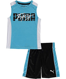 "Puma Little Boys' Toddler ""Fast Lane"" 2-Piece Outfit (Sizes 2T – 4T) - CookiesKids.com"