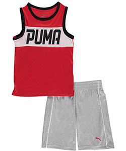 "Puma Little Boys' Toddler ""Fast Track"" 2-Piece Outfit (Sizes 2T – 4T) - CookiesKids.com"