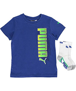 "Puma Little Boys' Toddler ""High Top"" T-Shirt & Socks Set (Sizes 2T – 4T) - CookiesKids.com"