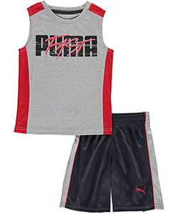 "Puma Little Boys' ""Fast Lane"" 2-Piece Outfit (Sizes 4 – 7) - CookiesKids.com"