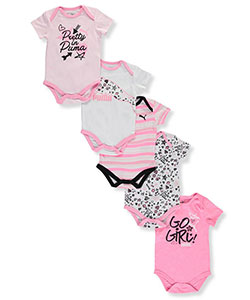 "Puma Baby Girls' ""Girl Power"" 5-Pack Bodysuits - CookiesKids.com"