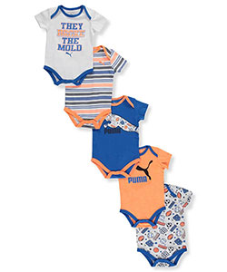 "Puma Baby Boys' ""Breaking the Mold"" 5-Pack Bodysuits - CookiesKids.com"