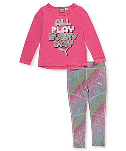 Puma Little Girls' 2-Piece Outfit (Sizes 4 – 6X) - CookiesKids.com