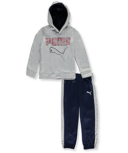Puma Little Boys' 2-Piece Tricot Tracksuit (Sizes 4 – 7) - CookiesKids.com