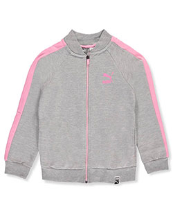 Puma Big Girls' Fleece Track Jacket (Sizes 7 – 16) - CookiesKids.com
