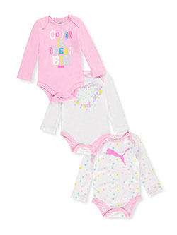 Puma Baby Girls' 3-Pack L/S Bodysuits - CookiesKids.com