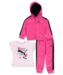 Puma Little Girls' Toddler 3-Piece Outfit (Sizes 2T – 4T) - CookiesKids.com