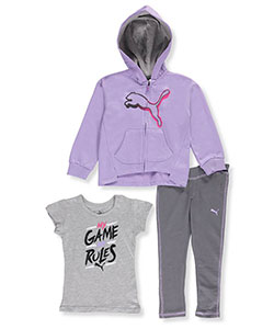 Puma Little Girls' 3-Piece Outfit (Sizes 4 – 6X) - CookiesKids.com