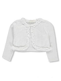 "American Princess Little Girls' Toddler ""Pearly Ruffle"" Shrug (Sizes 2T – 4T) - CookiesKids.com"
