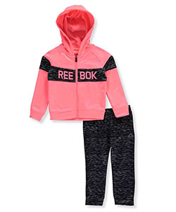 Reebok Little Girls' Toddler 2-Piece Tricot Tracksuit (Sizes 2T – 4T) - CookiesKids.com
