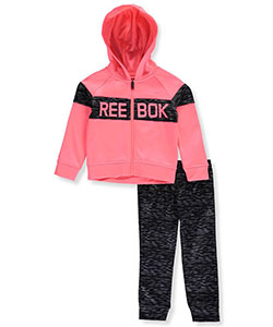 Reebok Little Girls' Performance Fleece 2-Piece Tracksuit (Sizes 4 – 6X) - CookiesKids.com