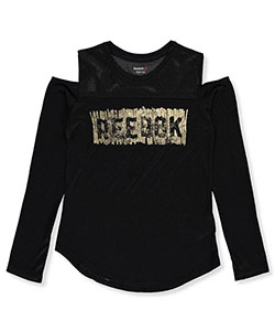 Reebok Big Girls' Cold Shoulder Top (Sizes 7 – 16) - CookiesKids.com