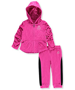 Reebok Baby Girls' 2-Piece Velour Sweatsuit - CookiesKids.com