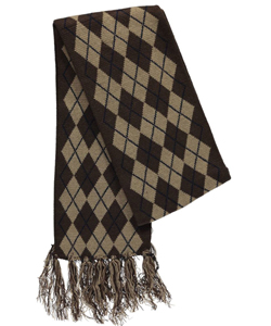 "Winter Warm-Up! ""Tasseled Argyle"" Scarf (Youth One Size) - CookiesKids.com"