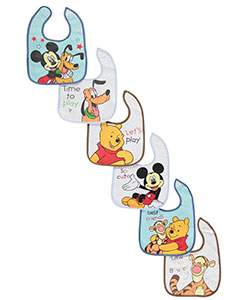 "Disney ""Mickey & Friends"" 6-Pack Bibs - CookiesKids.com"