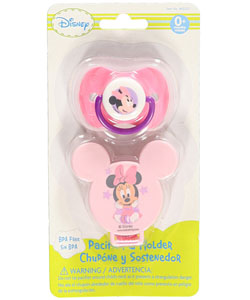 "Disney ""Starry Minnie"" Pacifier & Clip Set - CookiesKids.com"