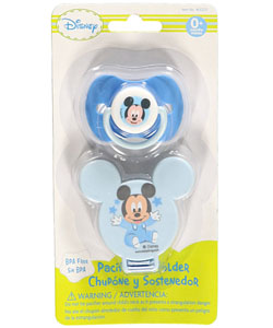 "Disney ""Starry Mickey"" Pacifier & Clip Set - CookiesKids.com"
