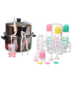 Baby King 25-Piece Plastic Bottle Sterilizer Kit - CookiesKids.com
