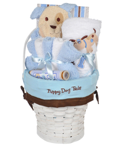 "Crib Mates ""Puppy Dog Tails"" 10-Piece Gift Set - CookiesKids.com"