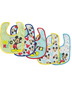 "Mickey Mouse ""Shhh, I'm Hiding"" 5-Pack Bibs - CookiesKids.com"