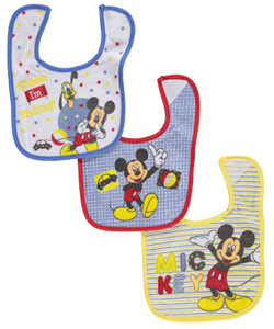"Mickey Mouse ""Hide-and-Seek"" 3-Pack Bibs - CookiesKids.com"