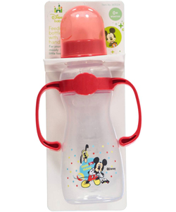 "Disney ""Hiding Mickey"" Feeding Bottle with Handles (8 oz.) - CookiesKids.com"