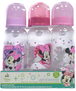 Minnie Mouse 6-Pack Bottles (9 oz.) - CookiesKids.com