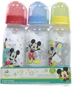 Mickey Mouse 6-Pack Bottles (9 oz.) - CookiesKids.com