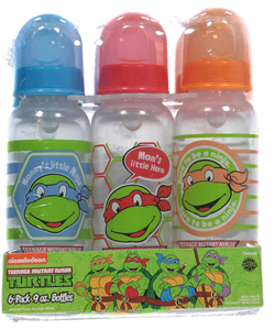 TMNT 6-Pack Bottles (9 oz.) - CookiesKids.com