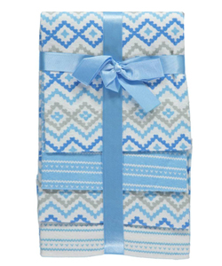 "Cribmates Baby Boys' ""Soft Waves"" 4-Pack Receiving Blankets - CookiesKids.com"