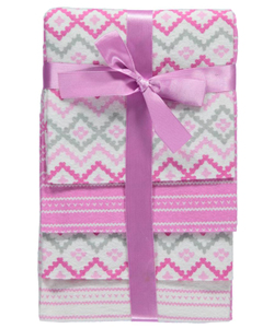 "Cribmates Baby Girls' ""Hearts & Diamonds"" 4-Pack Receiving Blankets - CookiesKids.com"