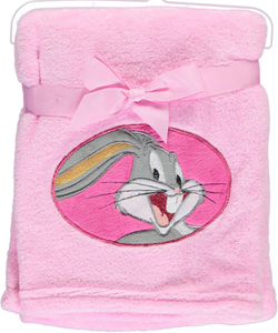 "Looney Tunes ""Character Applique"" Plush Blanket - CookiesKids.com"