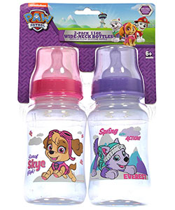 "Paw Patrol ""Spring into Action"" 2-Pack Wide-Neck Bottles (11 oz.) - CookiesKids.com"