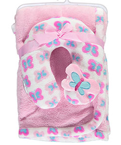 "Cribmates Baby Girls' ""Butterfly Baby"" 2-Piece Blanket Set - CookiesKids.com"