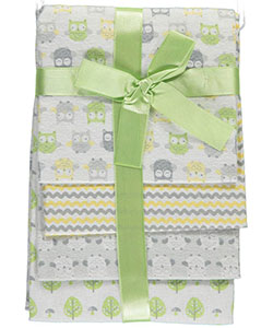 "Cribmates Baby Boys' ""Forest Friends"" 4-Pack Receiving Blankets - CookiesKids.com"