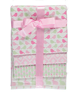 "Petite L'Amour Baby Girls' ""Pretty Bird"" 4-Pack Receiving Blankets - CookiesKids.com"