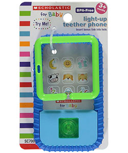 "Scholastic for Baby ""First Phone"" Teether - CookiesKids.com"