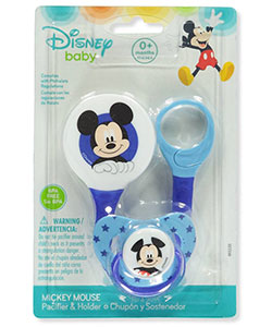 Disney Mickey Mouse Pacifier & Clip Set - CookiesKids.com