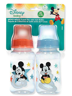 "Disney Mickey Mouse ""Playtime"" 2-Pack Wide-Neck Bottles (11 oz.) - CookiesKids.com"