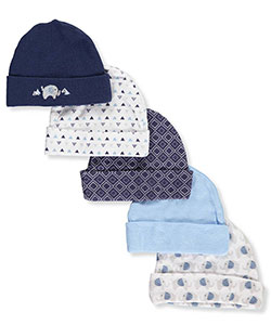 Cribmates Baby Boys' 5-Pack Caps - CookiesKids.com