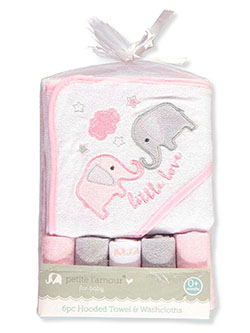 Petite L'amour Baby Girls' 6-Piece Bath Set - CookiesKids.com