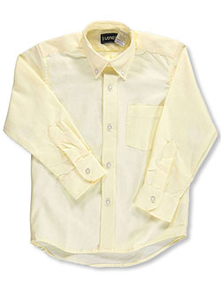 Kaynee Big Boys' L/S Button-Down Shirt (Sizes 8 - 20) - CookiesKids.com