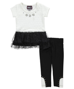 "RMLA Little Girls' Toddler ""Textured Glamour"" 2-Piece Outfit (Sizes 2T – 4T) - CookiesKids.com"