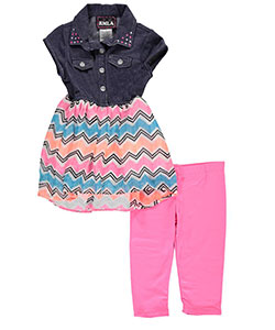 "RMLA Little Girls' Toddler ""Chevron Static"" 2-Piece Outfit (Sizes 2T – 4T) - CookiesKids.com"