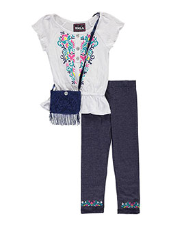 "RMLA Big Girls' ""Floral Crawl"" 2-Piece Outfit with Purse (Sizes 7 – 16) - CookiesKids.com"