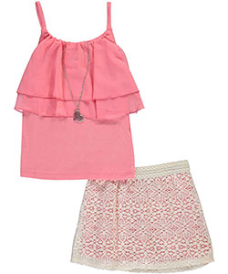 "RMLA Big Girls' ""Charlotte"" 2-Piece Outfit with Necklace (Sizes 7 – 16) - CookiesKids.com"