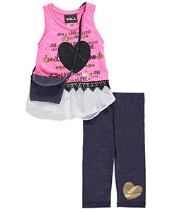 "RMLA Little Girls' ""Big Love"" 2-Piece Outfit with Purse (Sizes 4 – 6X) - CookiesKids.com"