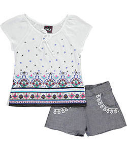 "RMLA Little Girls' Toddler ""Floral Thorns"" 2-Piece Outfit (Sizes 2T – 4T) - CookiesKids.com"