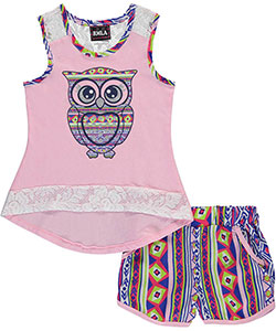 "RMLA Little Girls' ""Tribal-Trimmed"" 2-Piece Outfit (Sizes 4 – 6X) - CookiesKids.com"